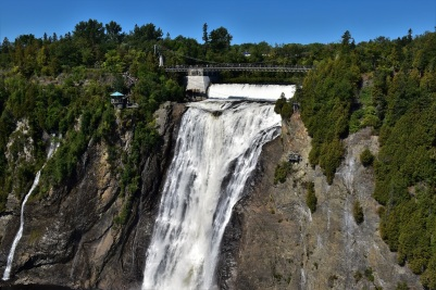 The Montmorency Fall is 83m high, 30m more than the Niagara Falls!