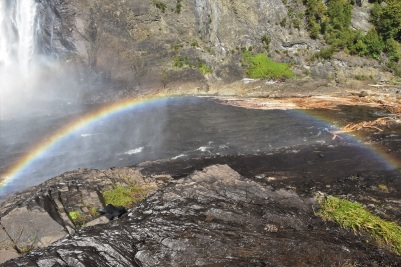 Perfect rainbow at the bottom of the Fall!