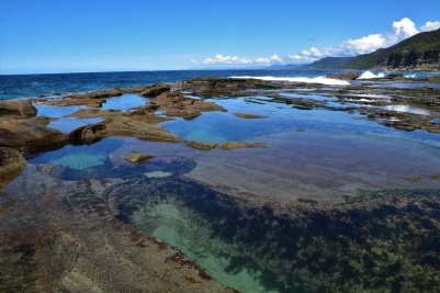 If you follow the coast track, you will reach this place just next to the see, where amazing naturally shaped pools are located
