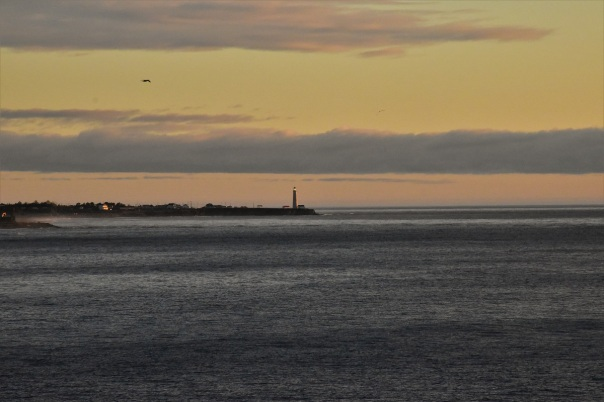 Lighthouse, sunrise, Forillon National Park