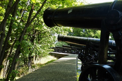 There are still a lot of old cannons, reminders of the rich history of Quebec City