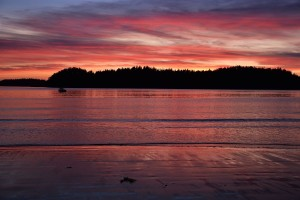 Sunset in Meares Island