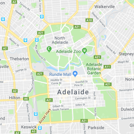 Adelaide, map