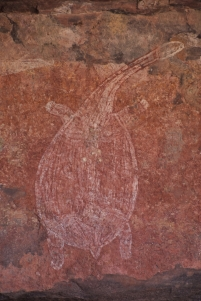 Aboriginal painting in the Kakadu National Park