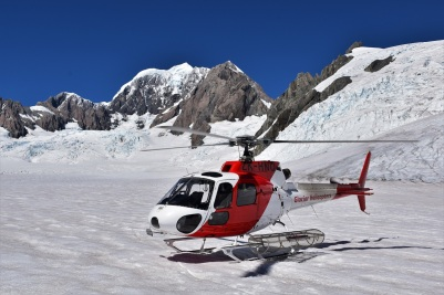Helicopter tour, Fox glacier