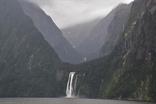 Waterfall, Milford Sound