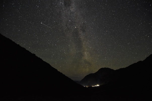 Milky way, Mount Cook village