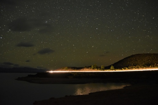 Starlight Highway, night, Lake Pukaki