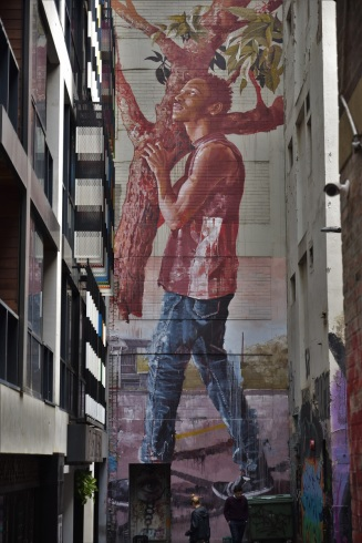 Of all the beautiful murals of Melbourne, this one in ACDC Lane is my personnal favourite