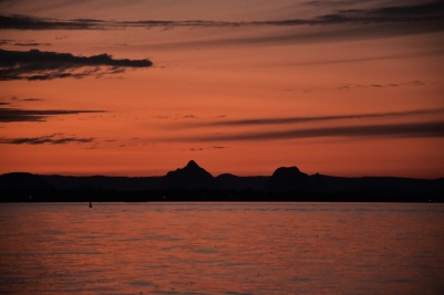 Sunset, Bribie Island, Glass House Mountains