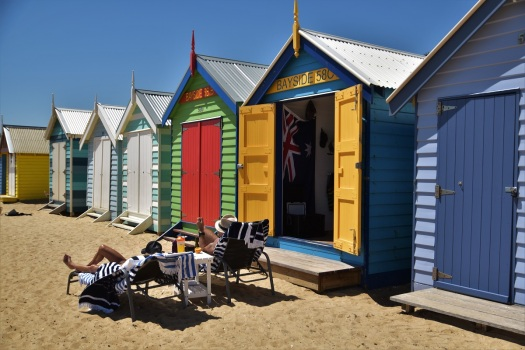 brighton-bathing-boxes-sunbathing