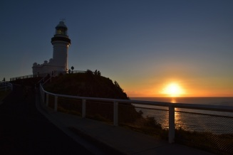 Sunrise, lighthouse, Byron Bay
