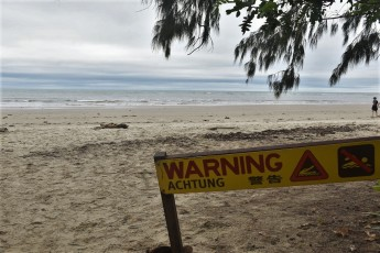Crocodiles sign, Cape Tribulation