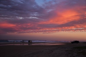 Sunset, Cathedral Beach, Fraser Island