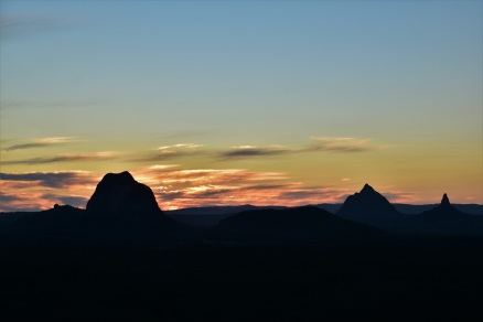 Sunset, Glass House Mountains