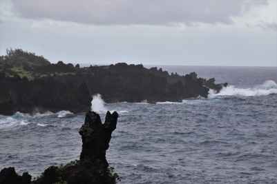 Black sand beach, Road to Hana, Maui