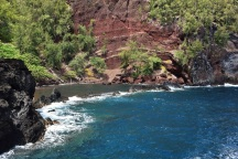 Red sand beach, Hana