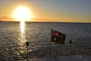 Sunset, ferry, Stradbroke Island