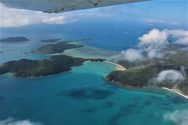 Scenic flight, Whitsunday Islands