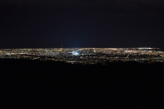 Adelaide, night Mount Lofty