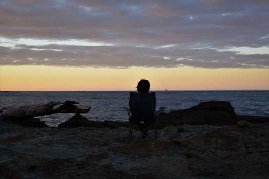 tasmania-penguin-sunset-person