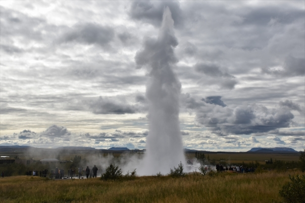 Strokkur, geyser, eruption
