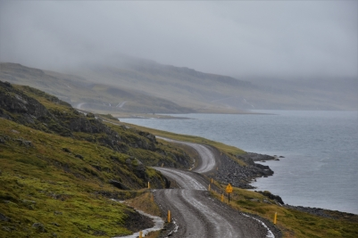Gravel road, East Iceland