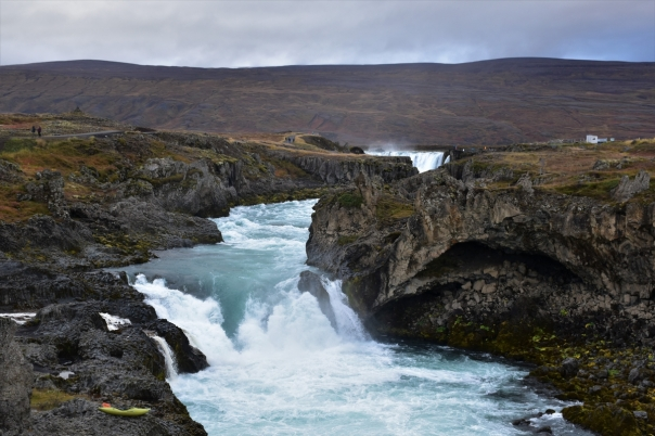 Godafoss, river, waterfall