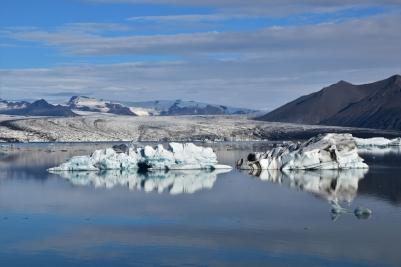 Jökulsarlon, lagoon, icebergs