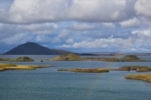 Lake Myvatn, craters