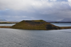 The pseudo craters of Skutustadagigar on the South of Lake Myvatn