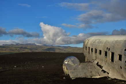 The plane wreck of Solheimasandur