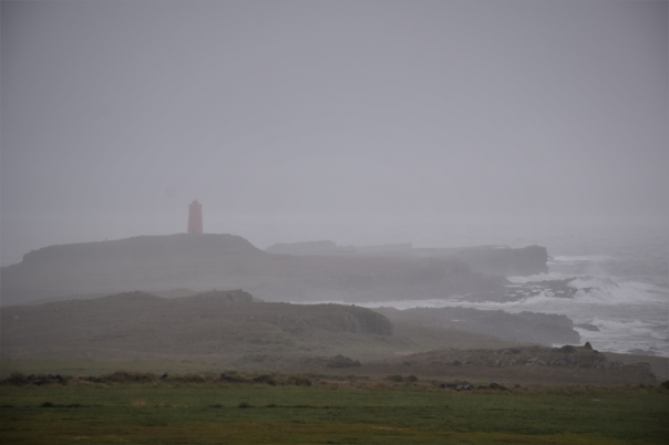 Vattarnes, lighthouse, clouds