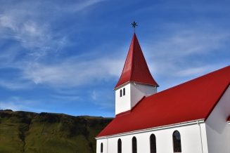 Vik, church
