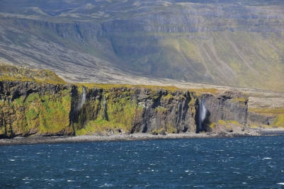 Snaefellsnes Peninsula, coast, waterfalls