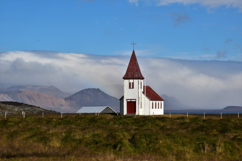 Snaefellsnes Peninsula, Hellnar, church