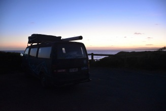 Australia in a van, sunset