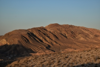 Carizzo Badlands, sunset, Anza-Borrego