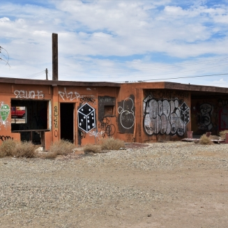 Bombay Beach, ruins, Salton Sea