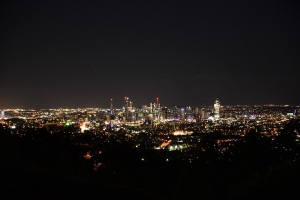 Brisbane at night, Mt Coot-tha lookout