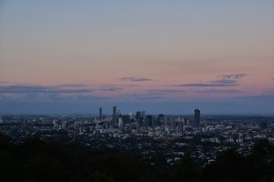 Sunset over Brisbane, Mt Coot-tha lookout