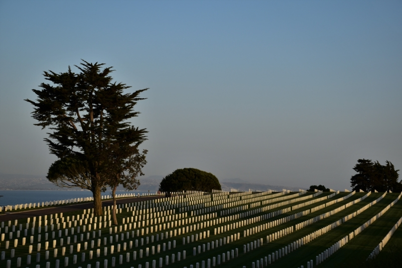 Point Loma cemetery in San Diego