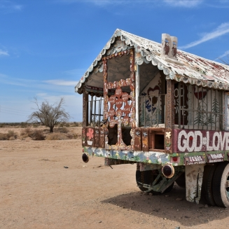 Salvation Mountain, truck