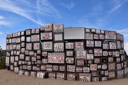 TV Wall, East Jesus, Slab City
