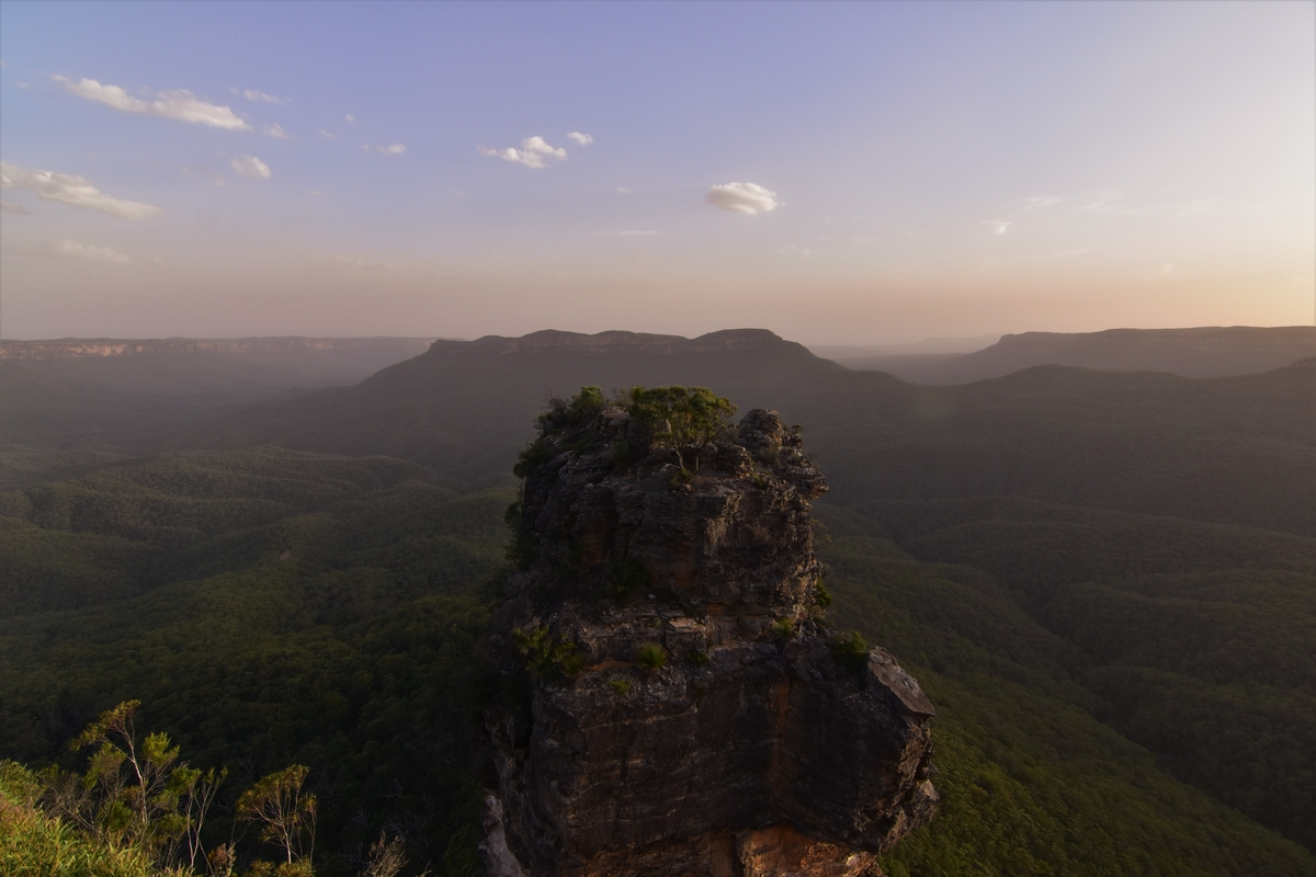 Blue Mountains, Three Sisters, sunset