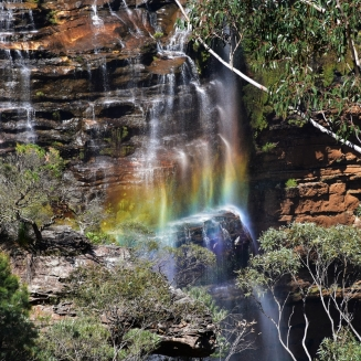 Blue mountains, Wentworth Falls, rainbow