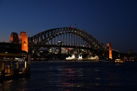 Harbour Bridge, night