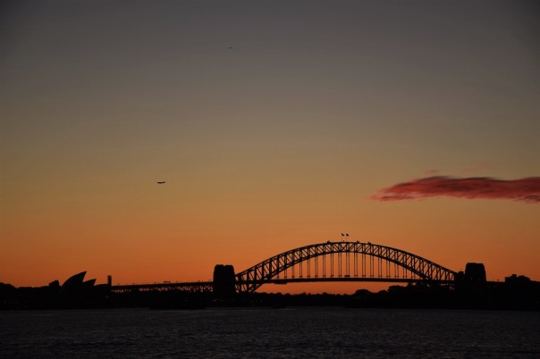 Opera House, Harbour Bridge, sunset