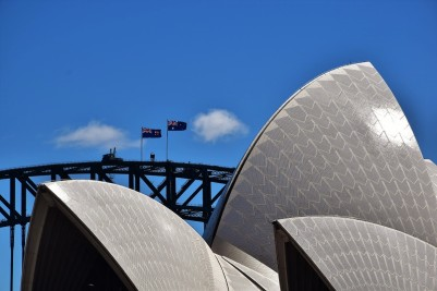 Sydney Opera House, roof, Harbour Bridge