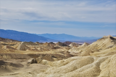 Badlands in the Death Valley